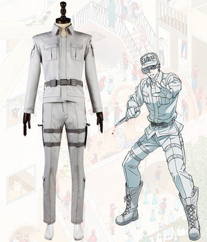 Cells At Work Hataraku Saibou Neutrophil Full Cosplay Costume