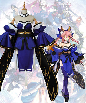 Fate Grand Order Fate Extra Tamamo No Mae Cosplay Costume