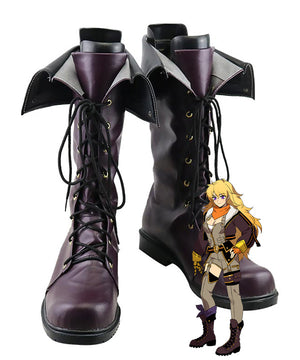RWBY Volume 7 Yang Xiao Long Brown Shoes Cosplay Boots