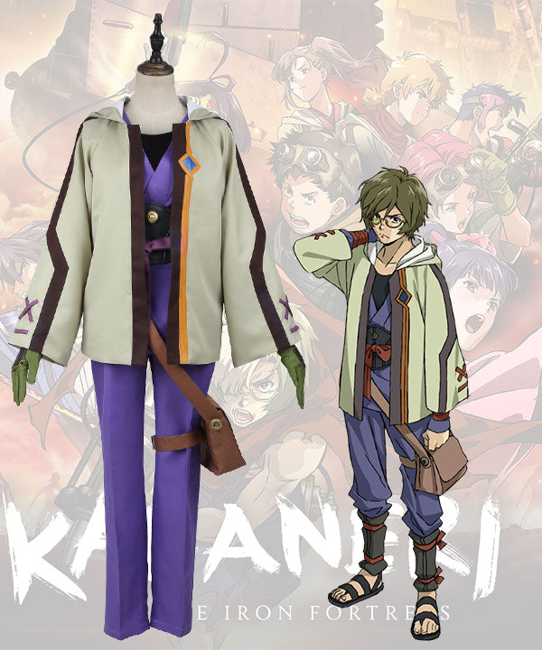 Kabaneri Of The Iron Fortress Ikoma Green Cosplay Costume
