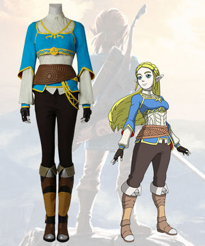 The Legend of Zelda: Breath of the Wild Princess Zelda Cosplay Costume - No Boot