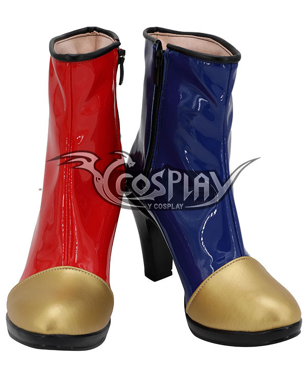 Dragon Ball Fighter Z Android 21 Red Blue Shoes Cosplay Boots