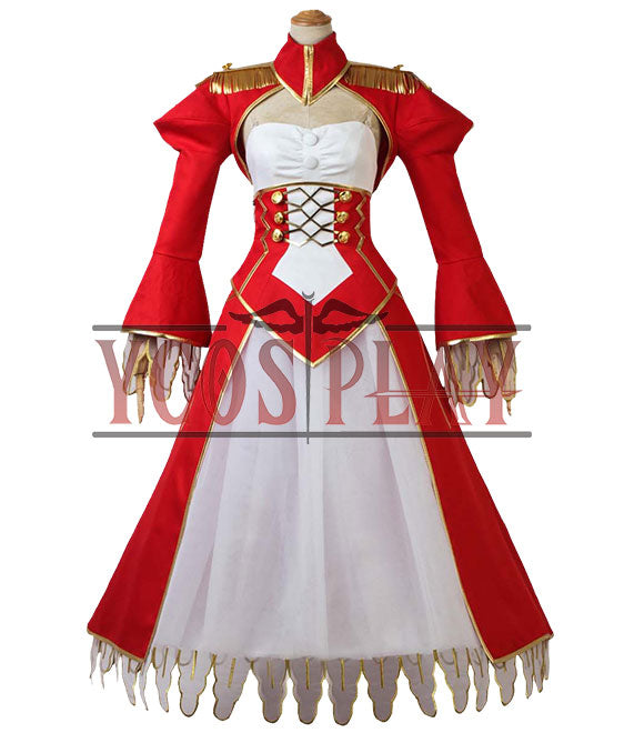 Fate EXTRA Last Encore Nero Claudius Saber Cosplay Costume