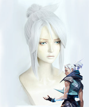 Valorant Jett White Cosplay Wig