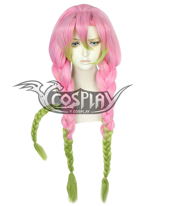 Demon Slayer: Kimetsu No Yaiba Kanroji Mitsuri Pink Green Cosplay Wig