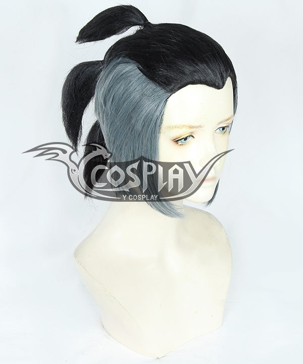 Pokemon Pokémon Sword And Shield Raihan Black Grey Cosplay Wig