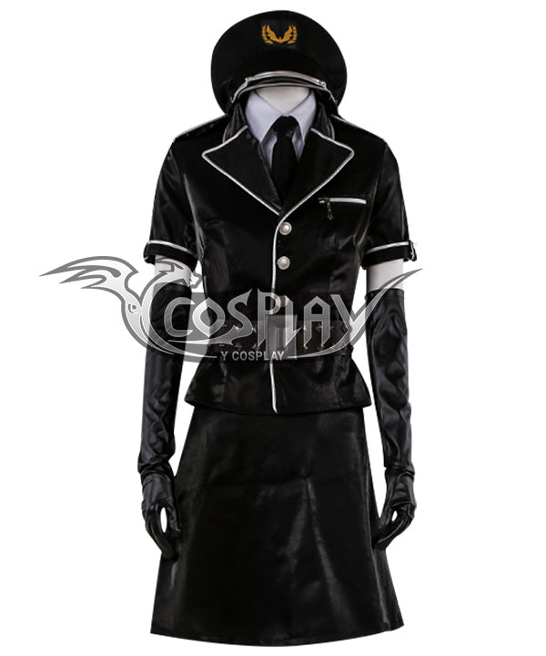 Persona 5: Dancing Star Night Joker Protagonist Akira Kurusu Ren Amamiya Female Punishment Cop Cosplay Costume