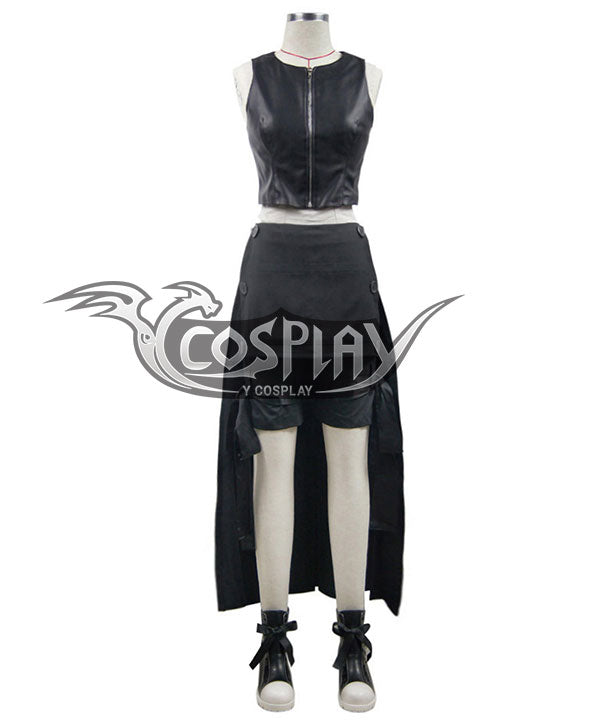 Final Fantasy VII: Advent Children Tifa Lockhart Black Cosplay Costume