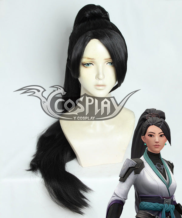 Valorant Sage Black Cosplay Wig