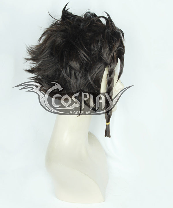 Fire Emblem Three Houses Claude von Regan Black Cosplay Wig