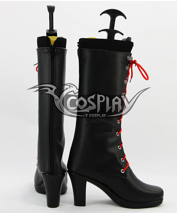 Danganronpa: Trigger Happy Havoc Junko Enoshima Black Shoes Cosplay Boots