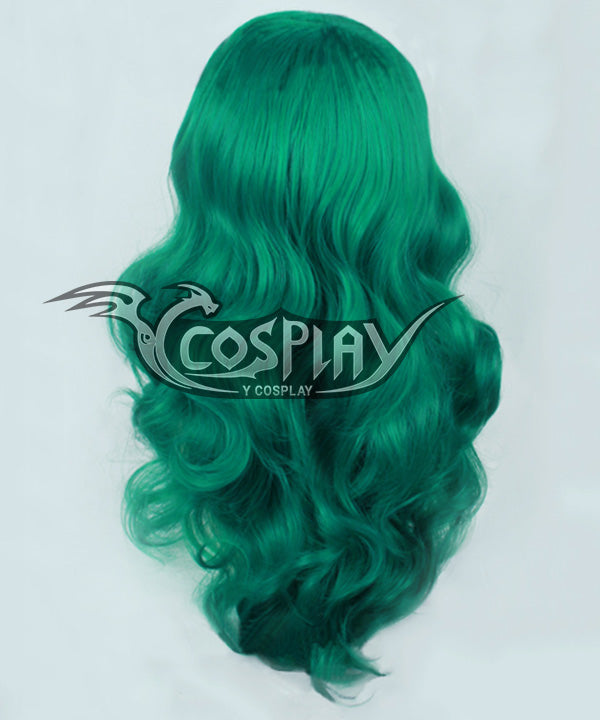 Sailor Moon Michiru Kaiou Green Cosplay Wig
