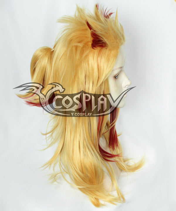 Demon Slayer: Kimetsu No Yaiba Rengoku Kyoujurou Golden Red Cosplay Wig