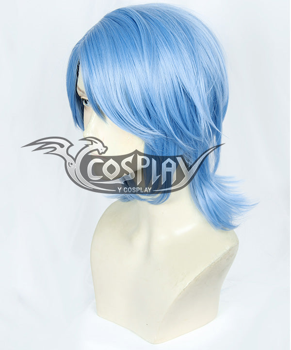 Kingdom Heart III Aqua Blue Cosplay Wig
