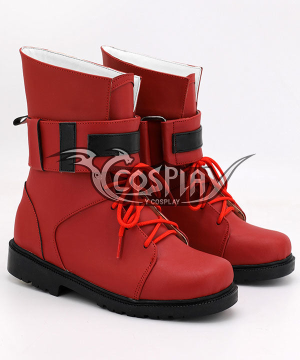 Final Fantasy VII Remake FF7 Tifa Lockhart Red Cosplay Boots