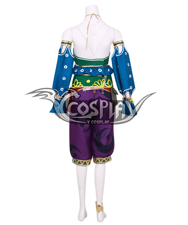 The Legend of Zelda: Breath of the Wild Female Zelda Link Gerudo Outfit Cosplay Costume