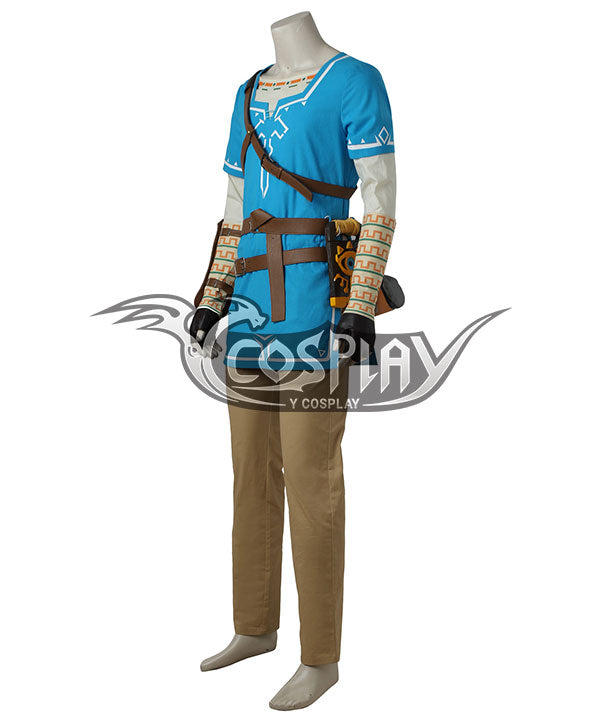 The Legend Of Zelda Breath Of The Wild Link Cosplay Costume No Boots