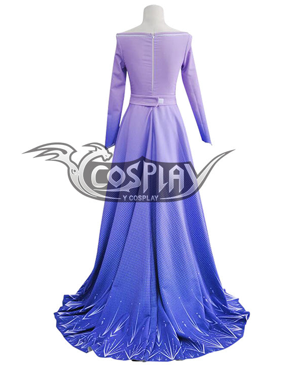 Disney Frozen 2 Elsa Purple Dress Cosplay Costume