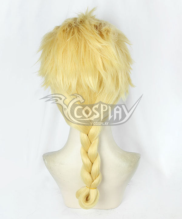 JoJo's Bizarre Adventure: Vento Aureo Golden Wind Giorno Giovanna Golden Cosplay Wig