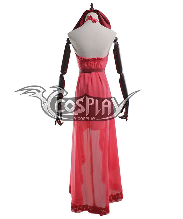Final Fantasy VII Remake FF7 Aerith Gainsborough Pink Cosplay Costume