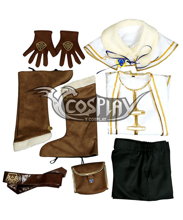 The Legend Of Zelda: Breath Of The Wild Princess Zelda Champions Ballad DLC Winter Outfit Cosplay Costume