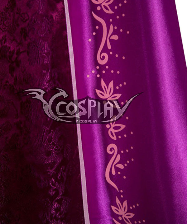 Disney Tangled Princess Rapunzel Pink Dress Cosplay Costume