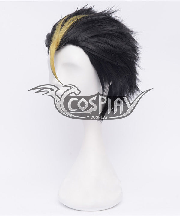 Haikyu!! Haikyuu!! Karasuno High School Yu Nishinoya Nishinoya Yuu Multicolor Cosplay Wig