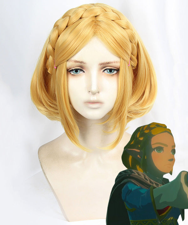 The Legend Of Zelda: Breath Of The Wild 2 Princess Zelda Golden Cosplay Wig