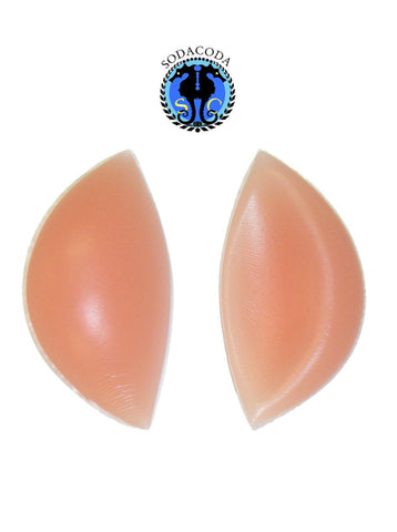 Crescent Silicone Inserts Chicken Fillets Breast Enhancers - Skin Colour 180g/pair