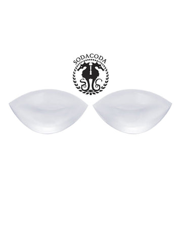 Super Soft Feel Real Crescent Silicone Inserts Chicken Fillets Breast Enhancers - Clear Colour 180g/pair