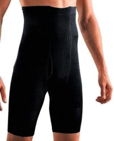Mens Long Slimming Shapewear Pants - Black (M, L)