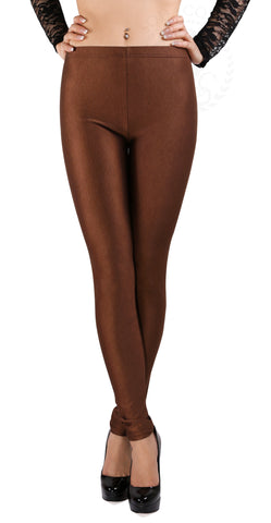 SodaCoda® Soft Stretchy Sports Leggings in Brown - ONE SIZE - High Quality Product!