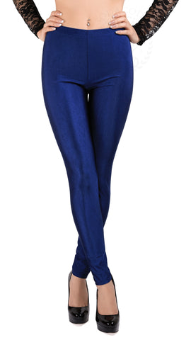 SodaCoda® Soft Stretchy Sports Leggings in Dark Blue - ONE SIZE - High Quality Product!