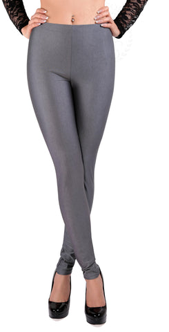 SodaCoda® Soft Stretchy Sports Leggings in Dark Grey - ONE SIZE - High Quality Product!