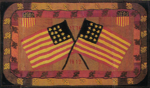 Crossed Flags and Oak Leaves 1812 (#191)