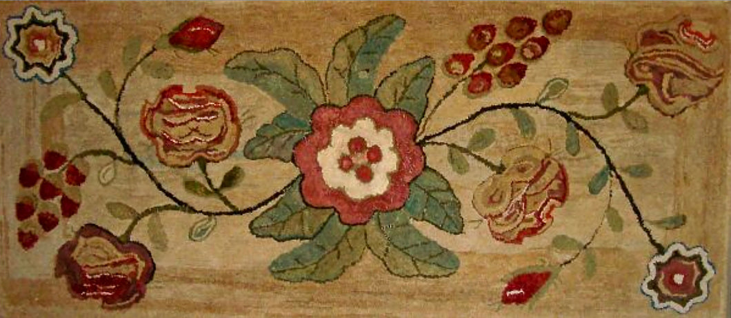 Maine Floral Hearth Rug 1850 (#451)