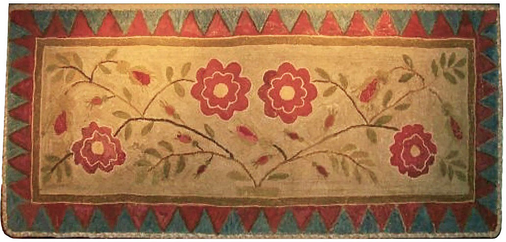 Maine Floral with Sawtooth Border (#454)
