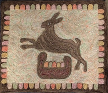 Load image into Gallery viewer, Fraktur Rabbit with Basket of Eggs (#126)