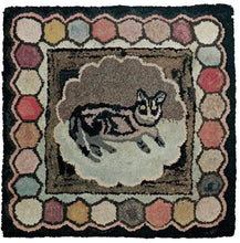 Load image into Gallery viewer, Cat on Mat with Hexagons (#6)