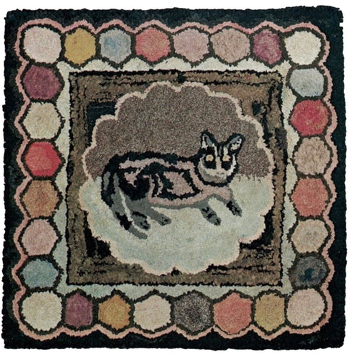 Cat on Mat with Hexagons (#6)