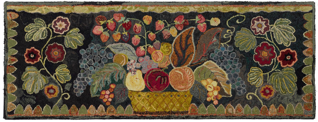 Basket of Fruit with Floral Sprigs (#438)