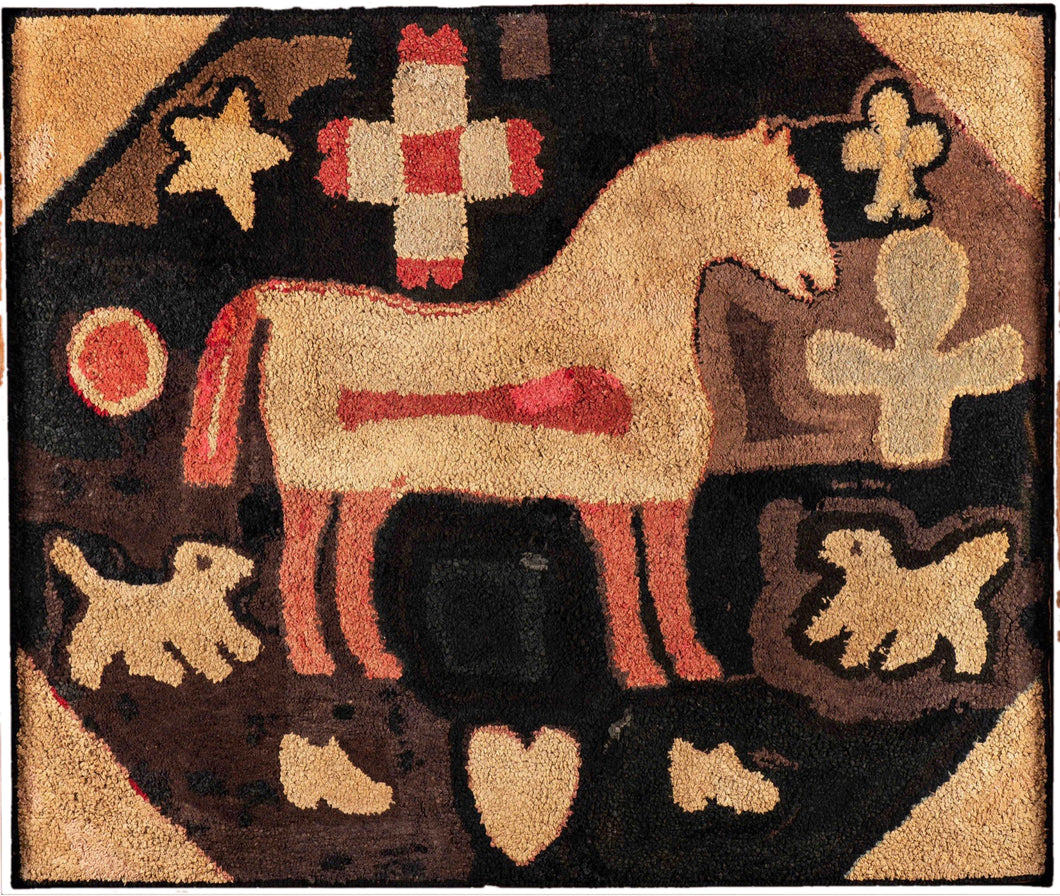 Horse, Dogs, Star, Heart and Boots 1870 (#420)