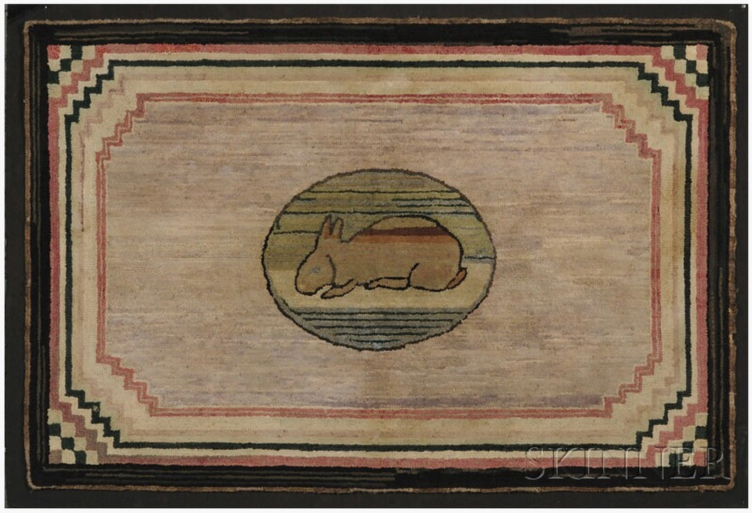 Rabbit in Oval with Stair Stepped Corners (#480)