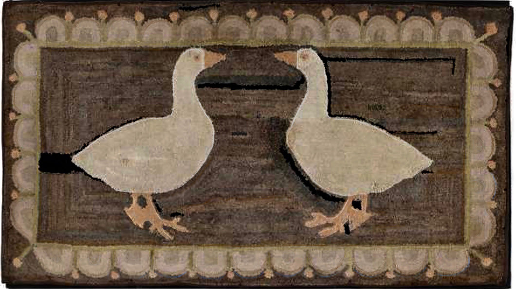 Two Geese with Swag Border (#485)