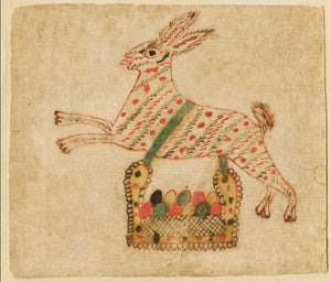 Fraktur Rabbit with Basket of Eggs (#126)