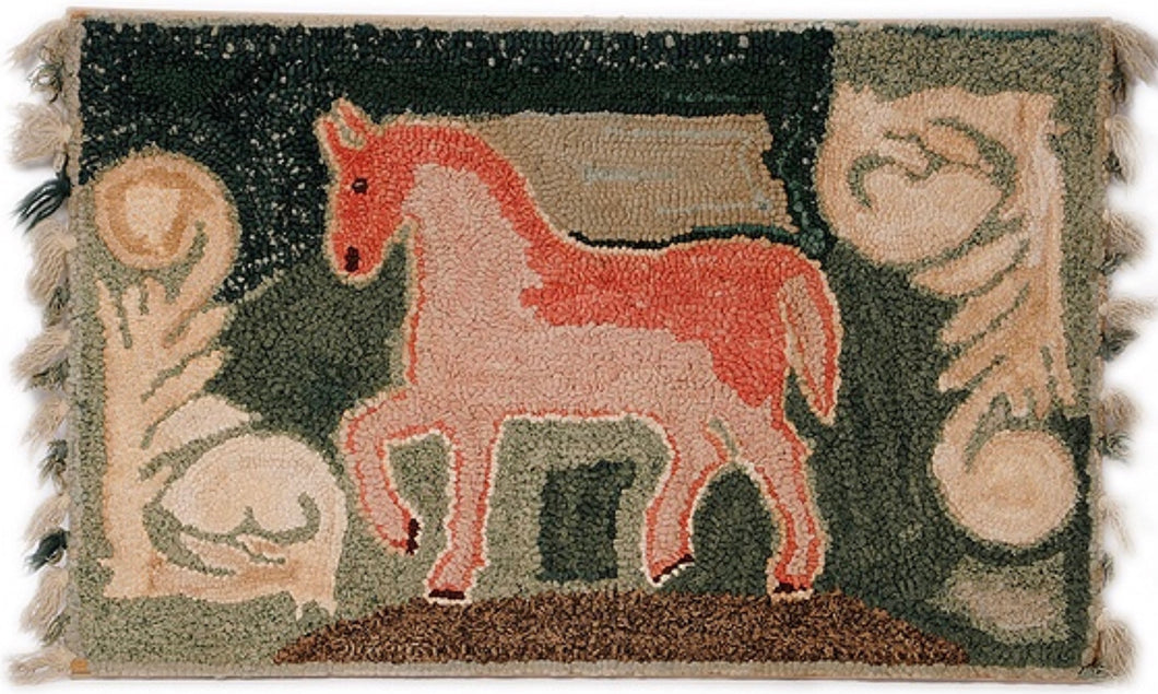 Horse Flanked by Primitive Scrolls (#493)