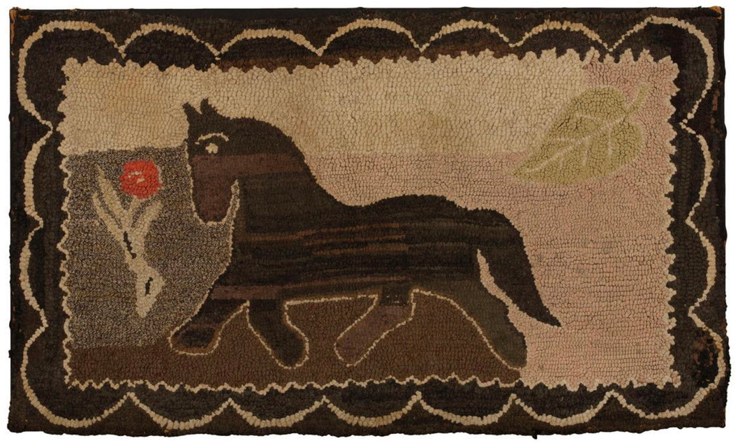 Trotting Horse in Scalloped Border (#513)