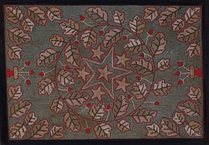 Oak Leaves and Acorns with Stars (#525)