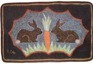 Rabbits Sharing a Carrot (#153)