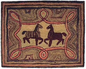 Horses in Geometric Border (#3)